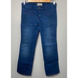 FREE PEOPLE Cropped Denim Jean Trouser Pants